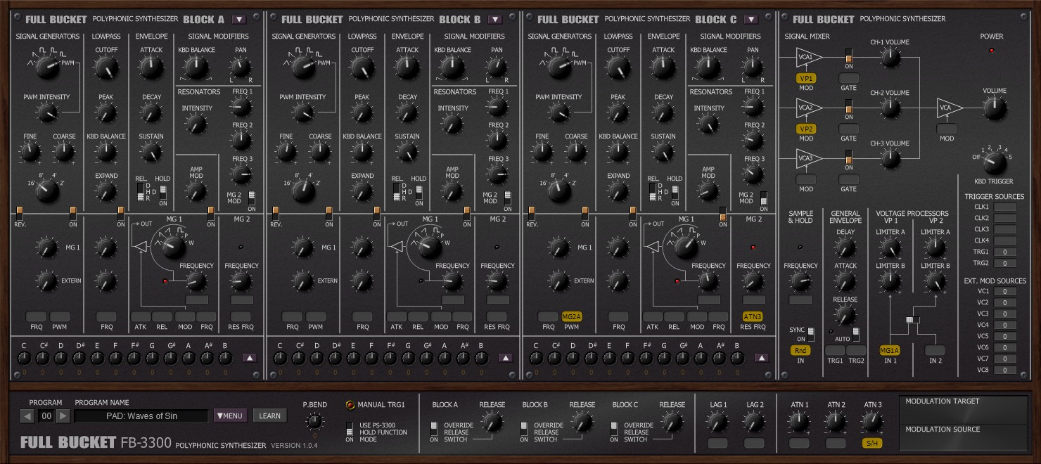 FB-3300 free software-synthesizer by Full Bucket Music