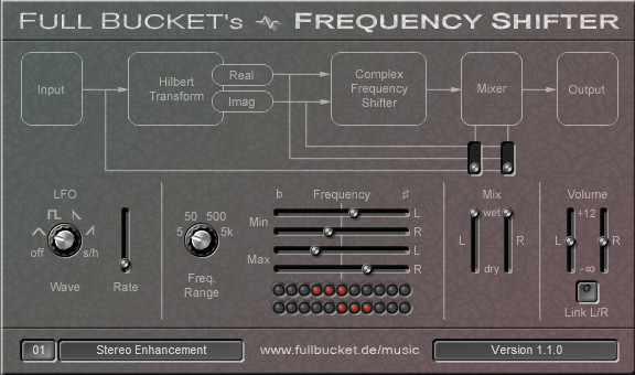 Full Bucket's Frequency Shifter free frequency-shifter by Full Bucket Music