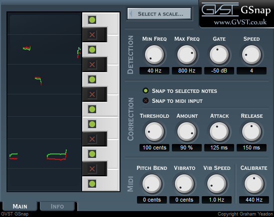 GSnap free pitch-corrector by GVST