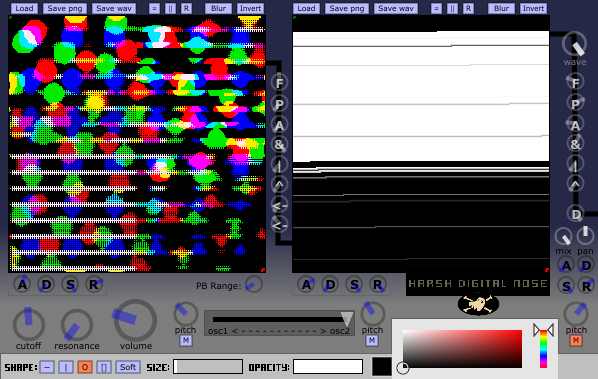 Harsh Digital Nose free software-synthesizer by Insert Piz Here