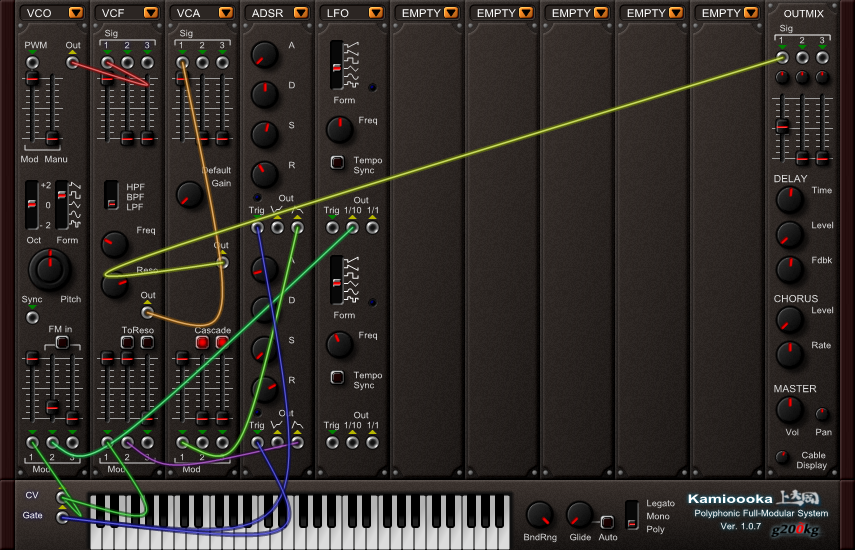 Kamioooka free software-synthesizer by g200kg