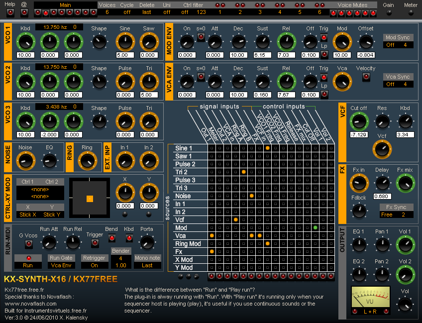 Kx-Synth-X16 free software-synthesizer by KX77FREE
