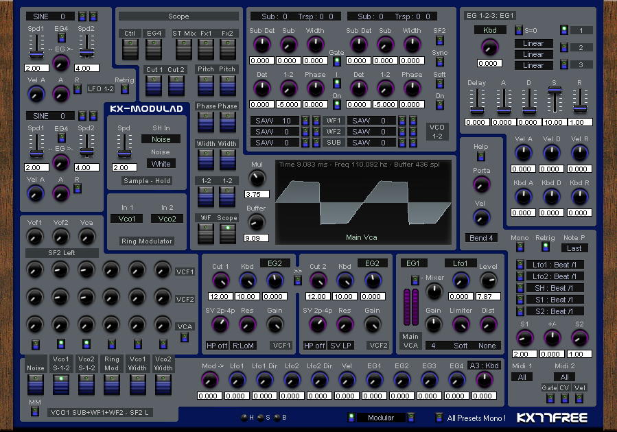 Kx-Modulad free software-synthesizer by KX77FREE