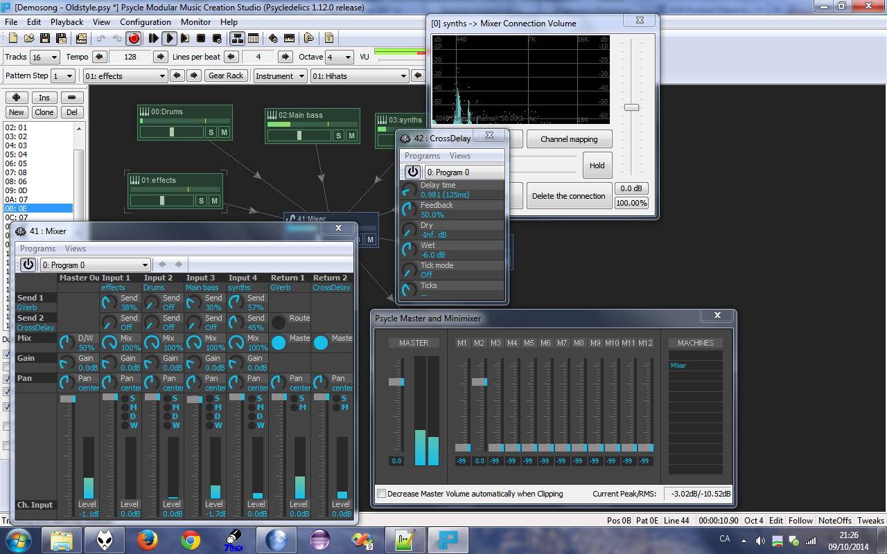 Psycle free daw   sequencer   host by Psycle