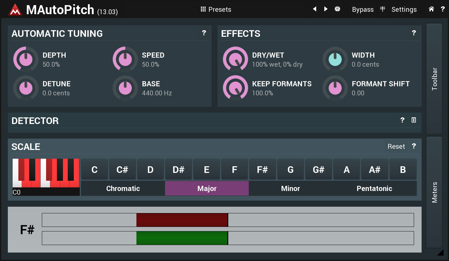 MAutoPitch free pitch-corrector by MeldaProduction