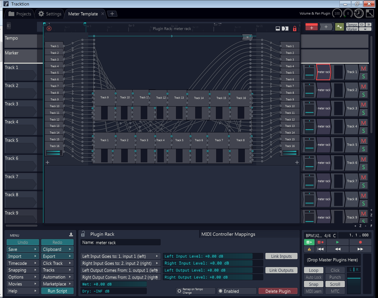 Tracktion Metering Rack & Template free soundbank by Lay-It Productions