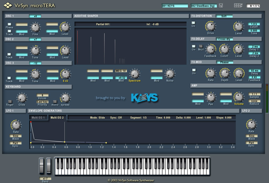 microTERA free software-synthesizer by VirSyn