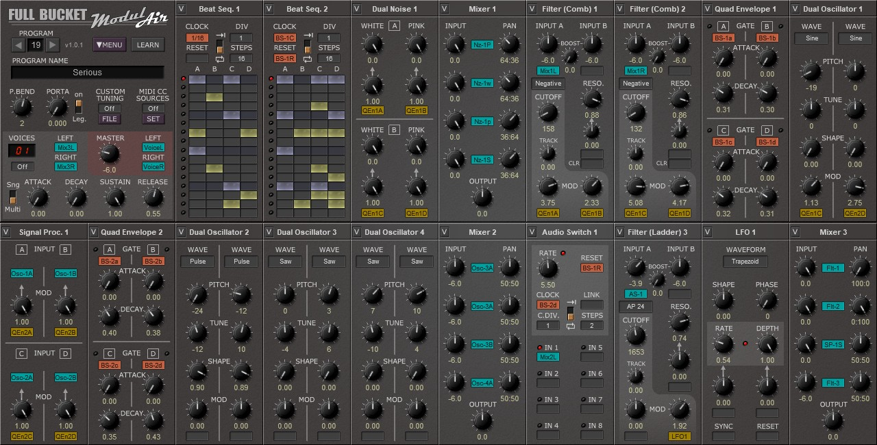 ModulAir free software-synthesizer by Full Bucket Music