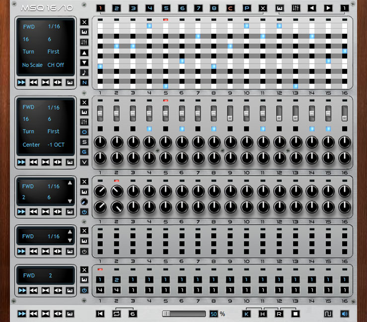 MSQ16/10 free free step-sequencer by xtrabits