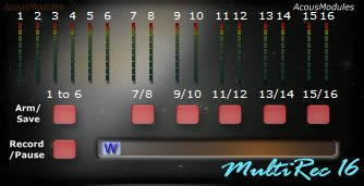 MultiRec 16 free audio-recorder by Acousmodules