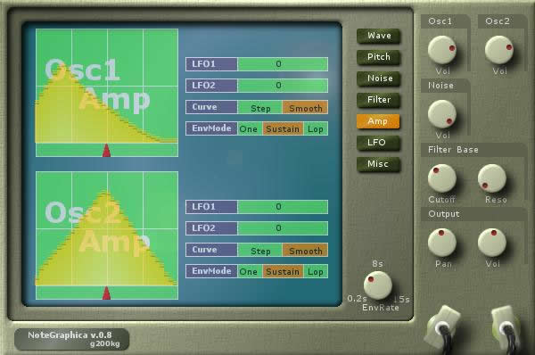 NoteGraphica free software-synthesizer by g200kg