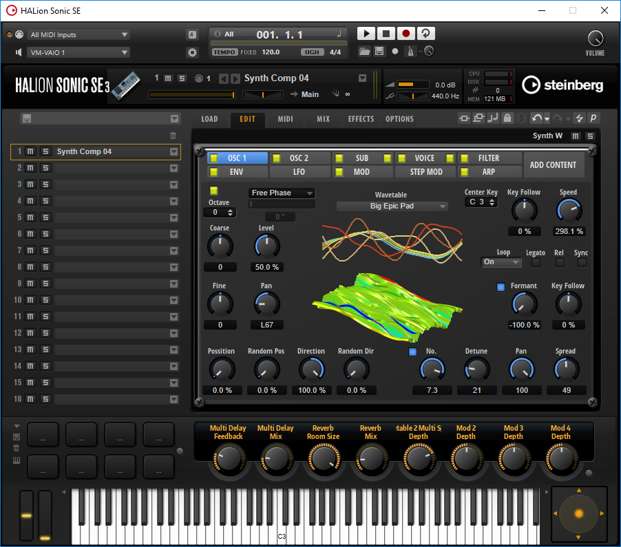 Synth W 1.5 free software-synthesizer by Freemusicproduction.net