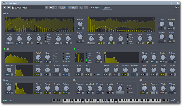 padthv1 free software-synthesizer by rncbc