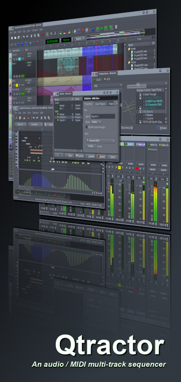Qtractor free sequencer   daw by rncbc