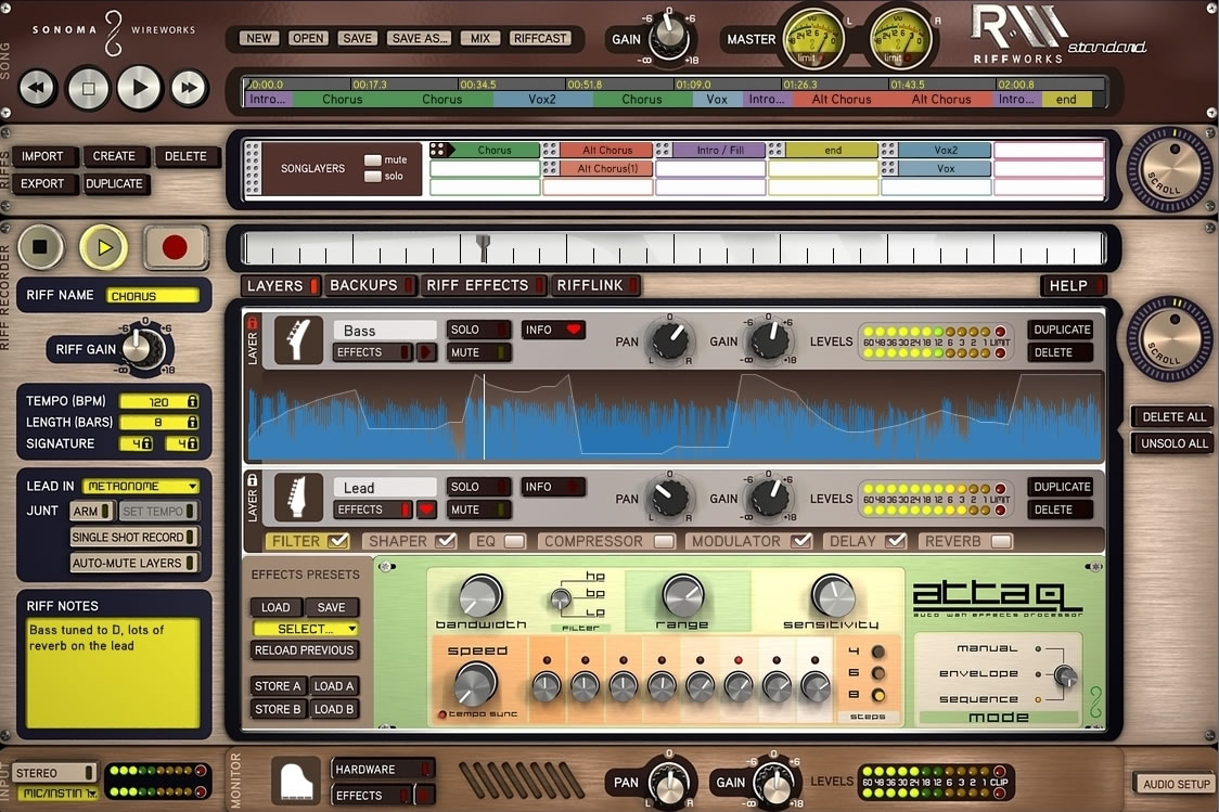 RiffWorks free daw | sequencer by Sonoma Wire Works