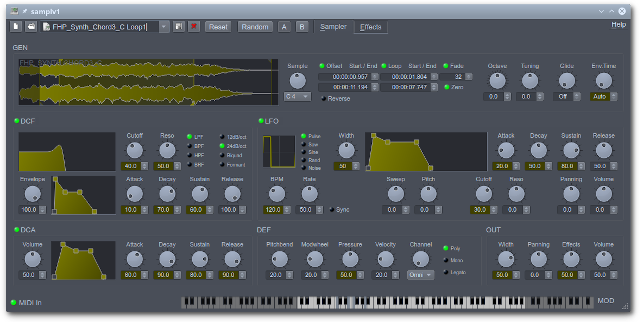 samplv1 free software-synthesizer by rncbc