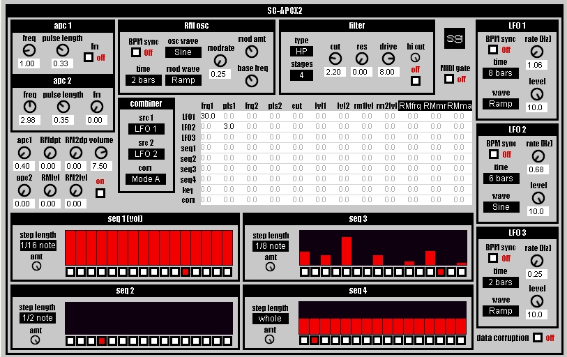 sg-apcx2 free software-synthesizer by Synthgeek