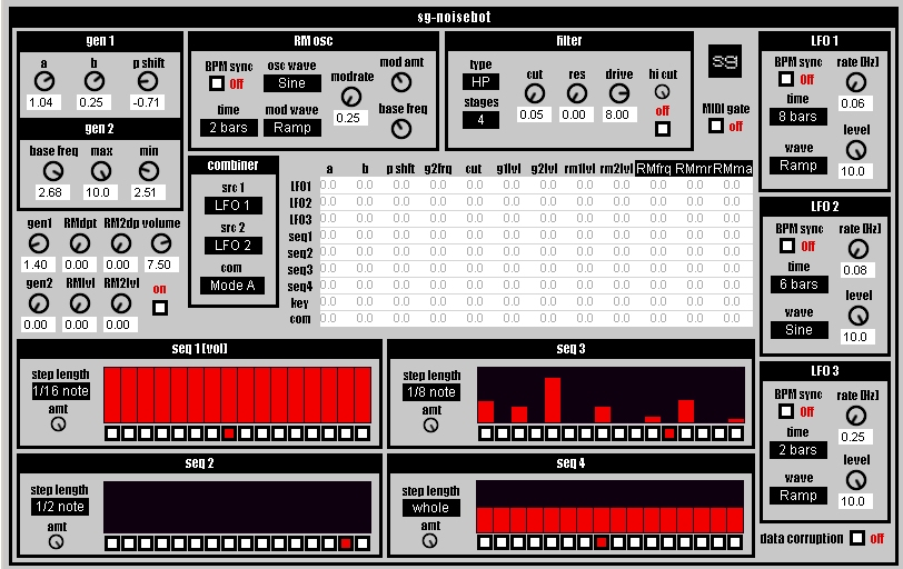 sg-noisebot free software-synthesizer by Synthgeek