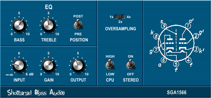 SGA1566 free overdrive | saturation by Shattered Glass Audio