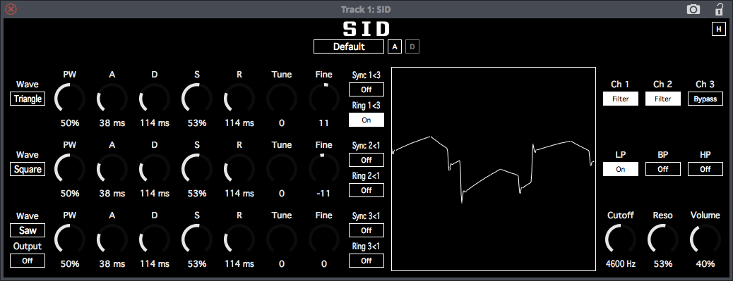 SID free software-synthesizer by SocaLabs