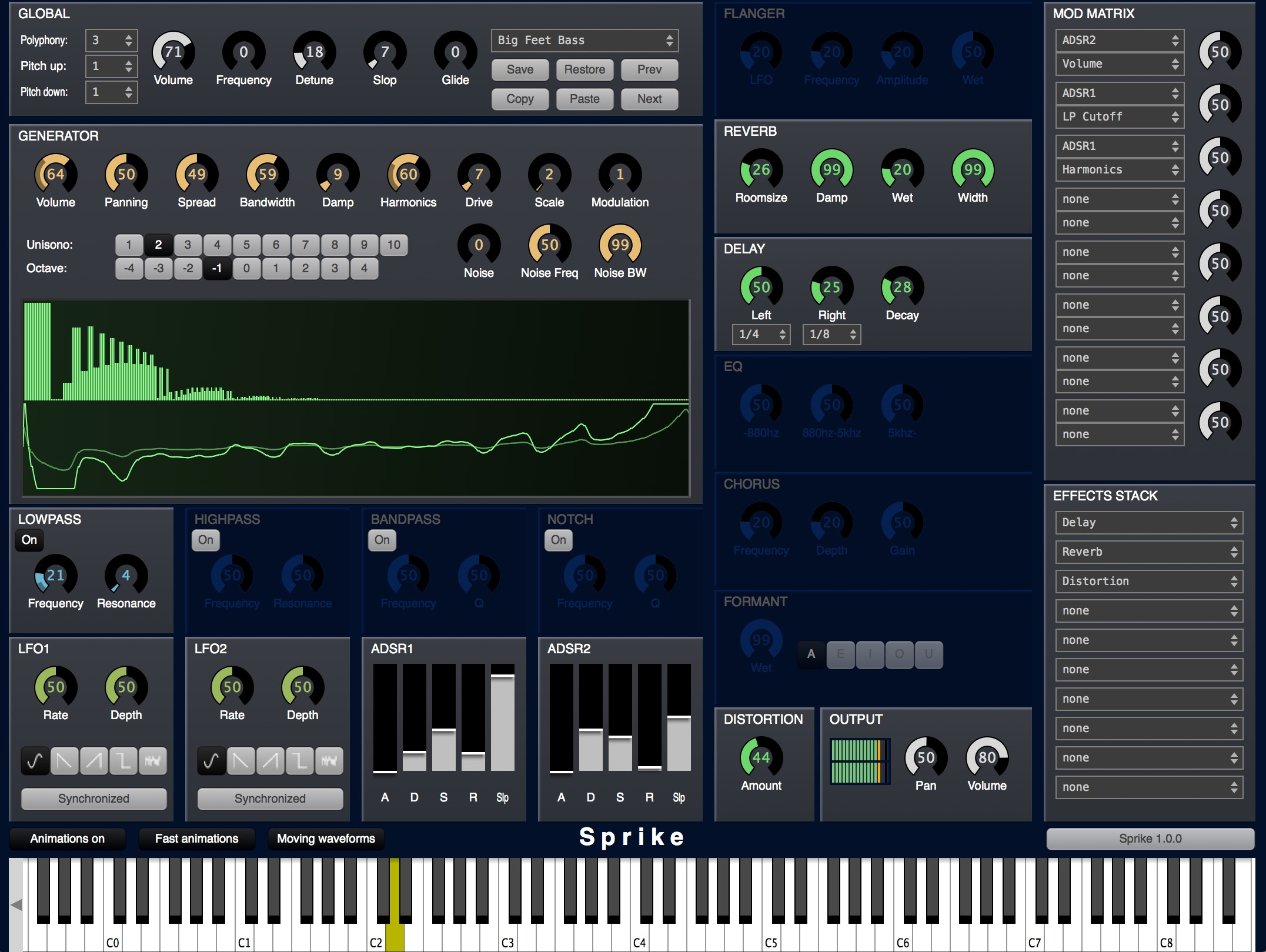 Sprike free software-synthesizer by Cognitone