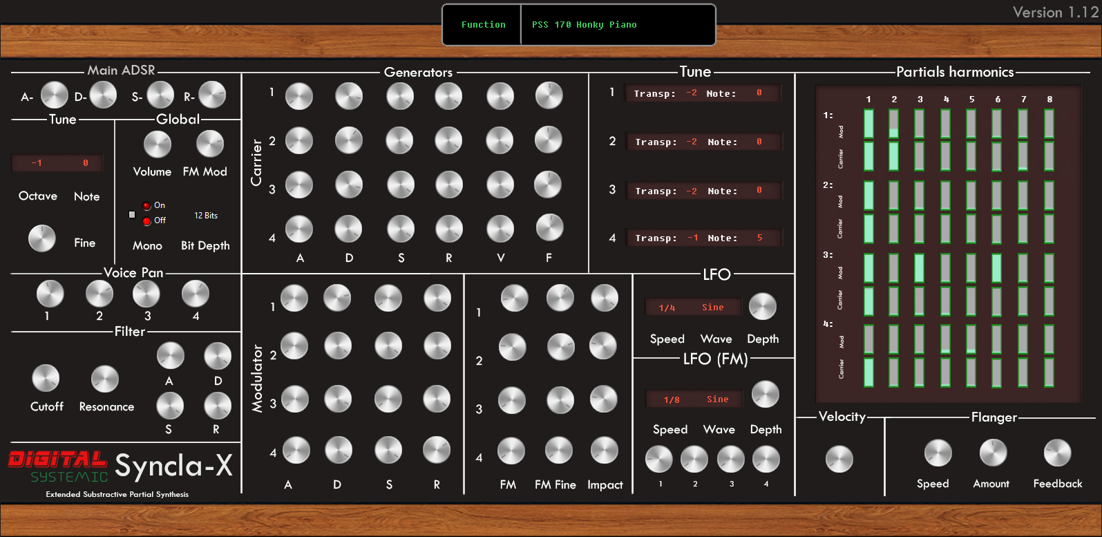 Syncla-X [Large Version] free software-synthesizer by Digital Systemic Emulations