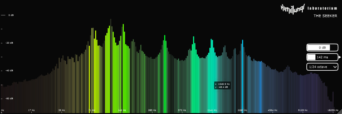 The Seeker free spectrum-analyzer by Himiltungl Labs