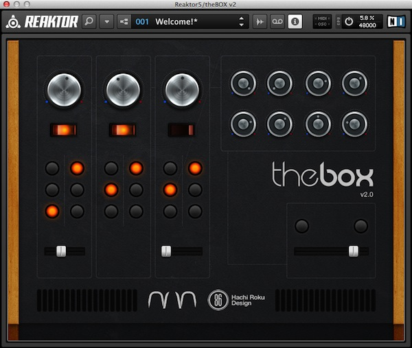 theBOX free software-synthesizer by Dario Lupo / Daze