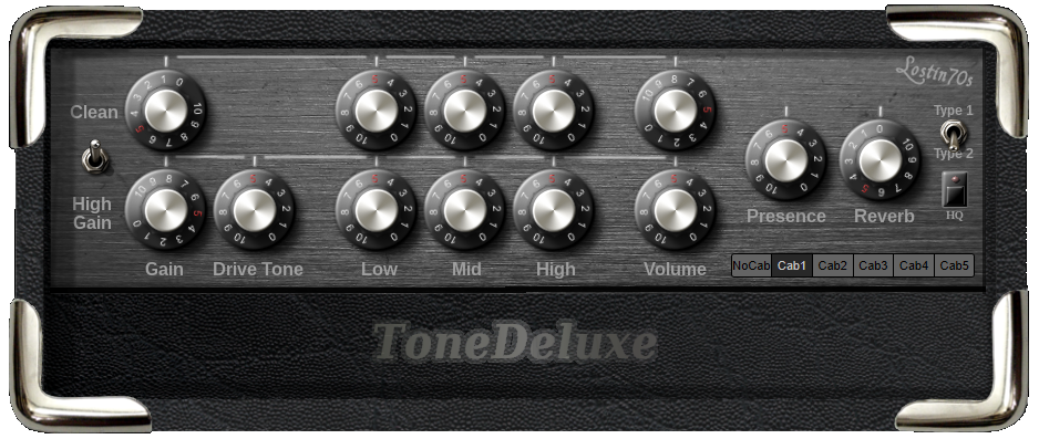 ToneDeluxe free amp-simulator by lostin70's