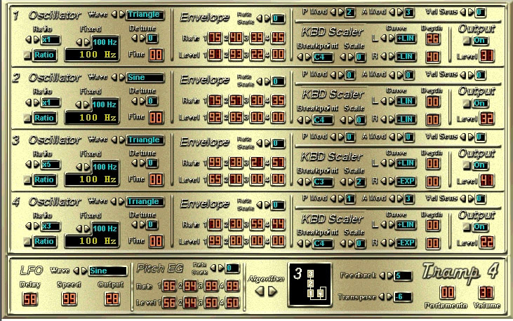 Tramp 4 free software-synthesizer by Deztex Limited Productions