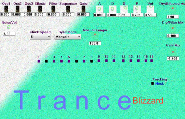 Trance Blizzard free software-synthesizer by RunBeerRun