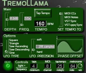 TremoLlama free tremolo | panner by Rekliner Records