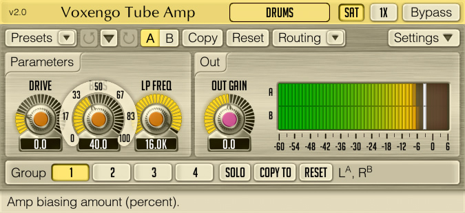 Tube Amp free overdrive | saturation by Voxengo