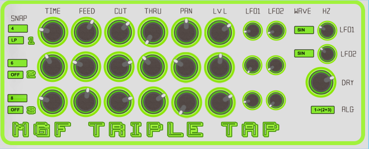 MGF Triple Tap free delay by MGF Audio