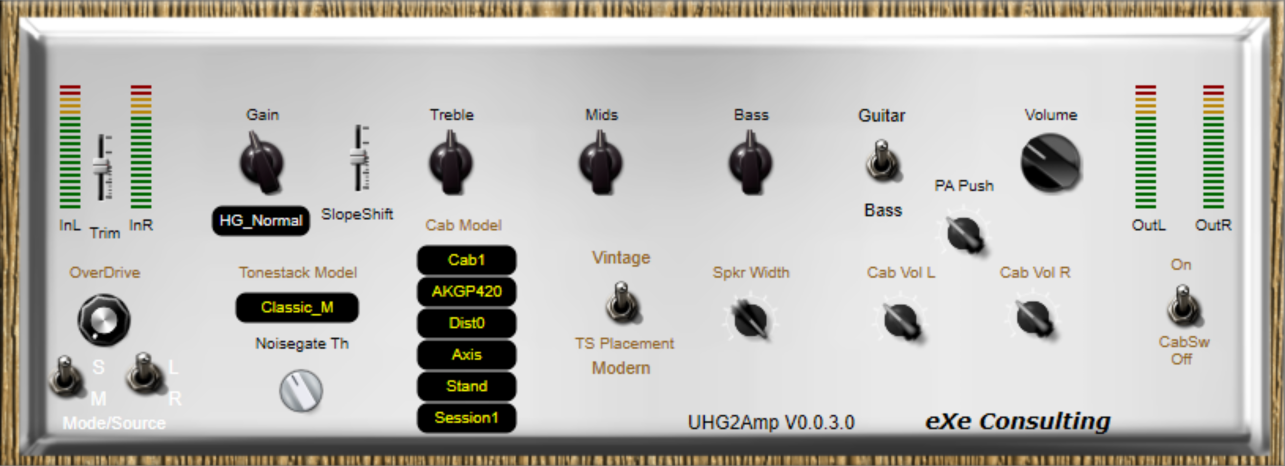 UHG2Amp free amp-simulator by EXE Consulting