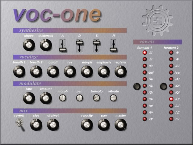 voc-one free software-synthesizer by Simple-Media