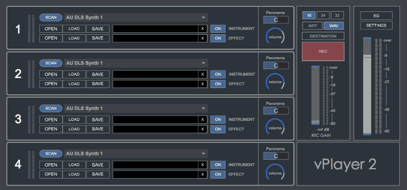 vPlayer 2 free host by Digital Brain Instruments
