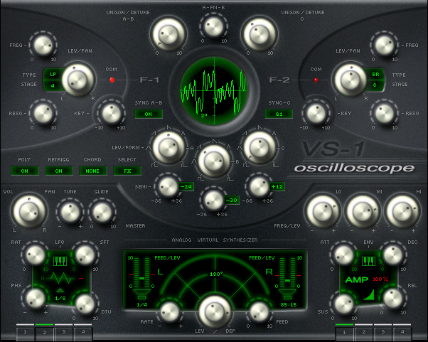 VS-1 Oscilloscope free software-synthesizer by BK SynthLab