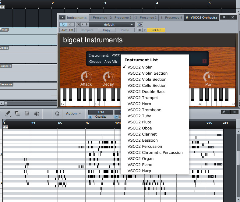 VSCO2 Orchestra Rompler free rompler by bigcat instruments