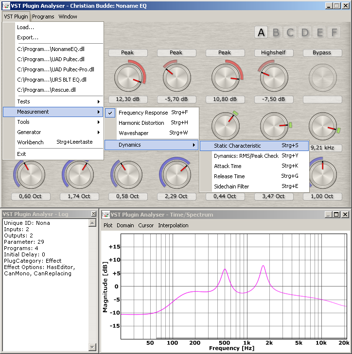 VST Plugin Analyser free development-tool by Christian Budde