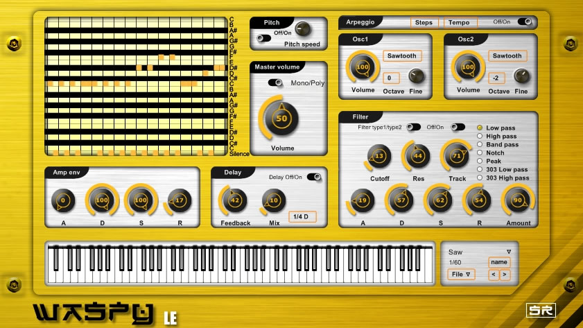 Waspy LE free software-synthesizer by Sound-Record