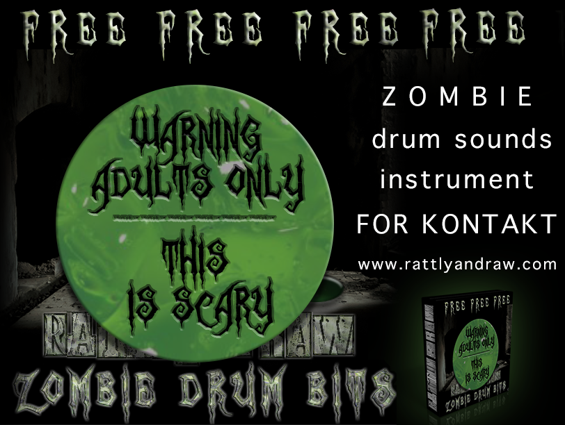 Zombie Drum Bits free soundbank by Rattly & Raw