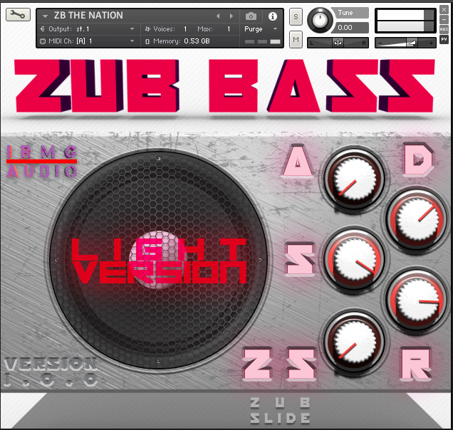 ZUB Bass free soundbank by IRMG Audio